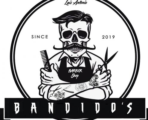 Logo Bandidos barber shop